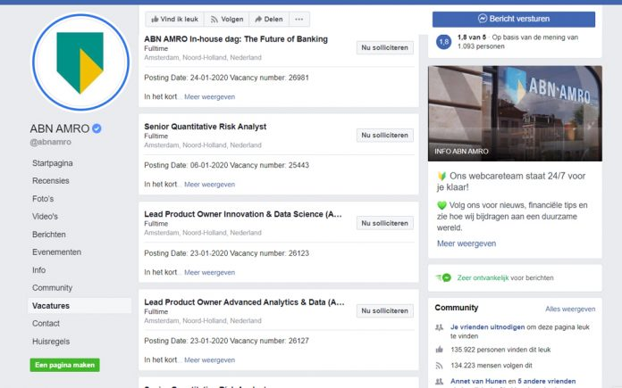 Facebook goes Google for Jobs and posts vacancies: